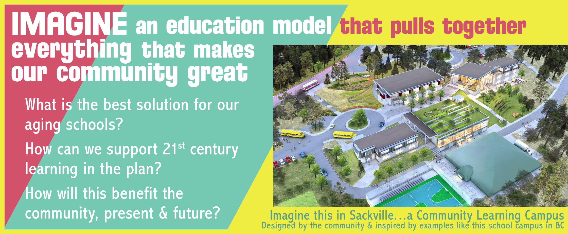 The community can work together to design amazing learning spaces in our town!