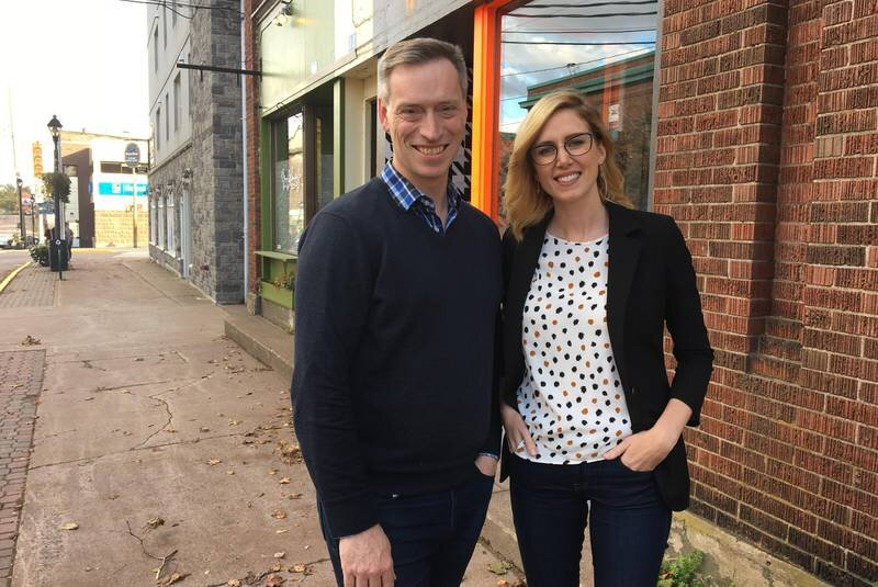 Jessica Hughes, here with Sackville 20/20 chair Andrew Wilson, will be taking on the role as Sackville's new executive director of community-supported education. - Katie Tower