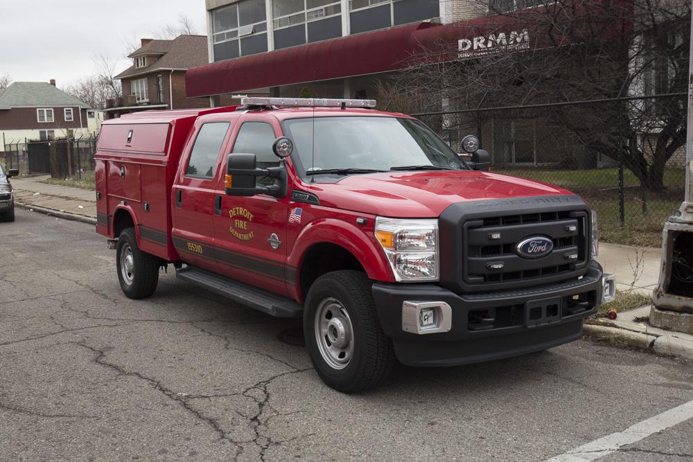 Detroit fire investigators on the scene of a fire.