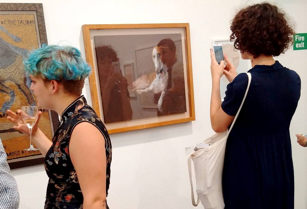 'WHIPPIT' PICTURED HERE AT JERWOOD DRAWING PRIZE LONDON 2016 SHORTLIST SHOW