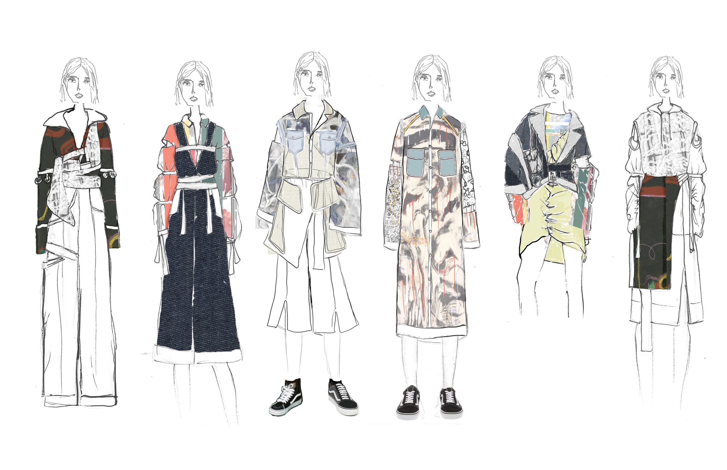 Illustration and flats by fashion designer Steph Asanza
