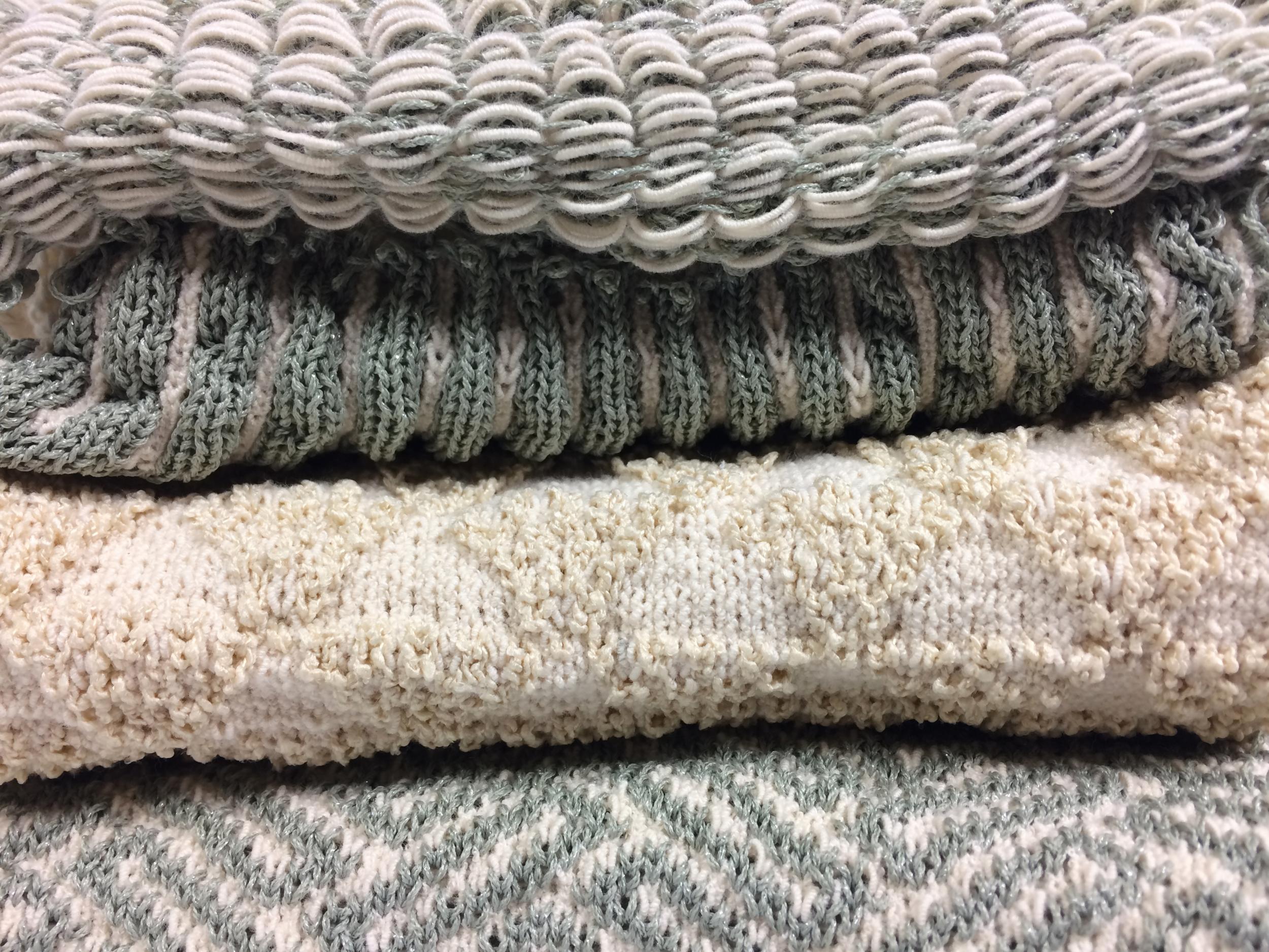 Sampling machine knit swatches