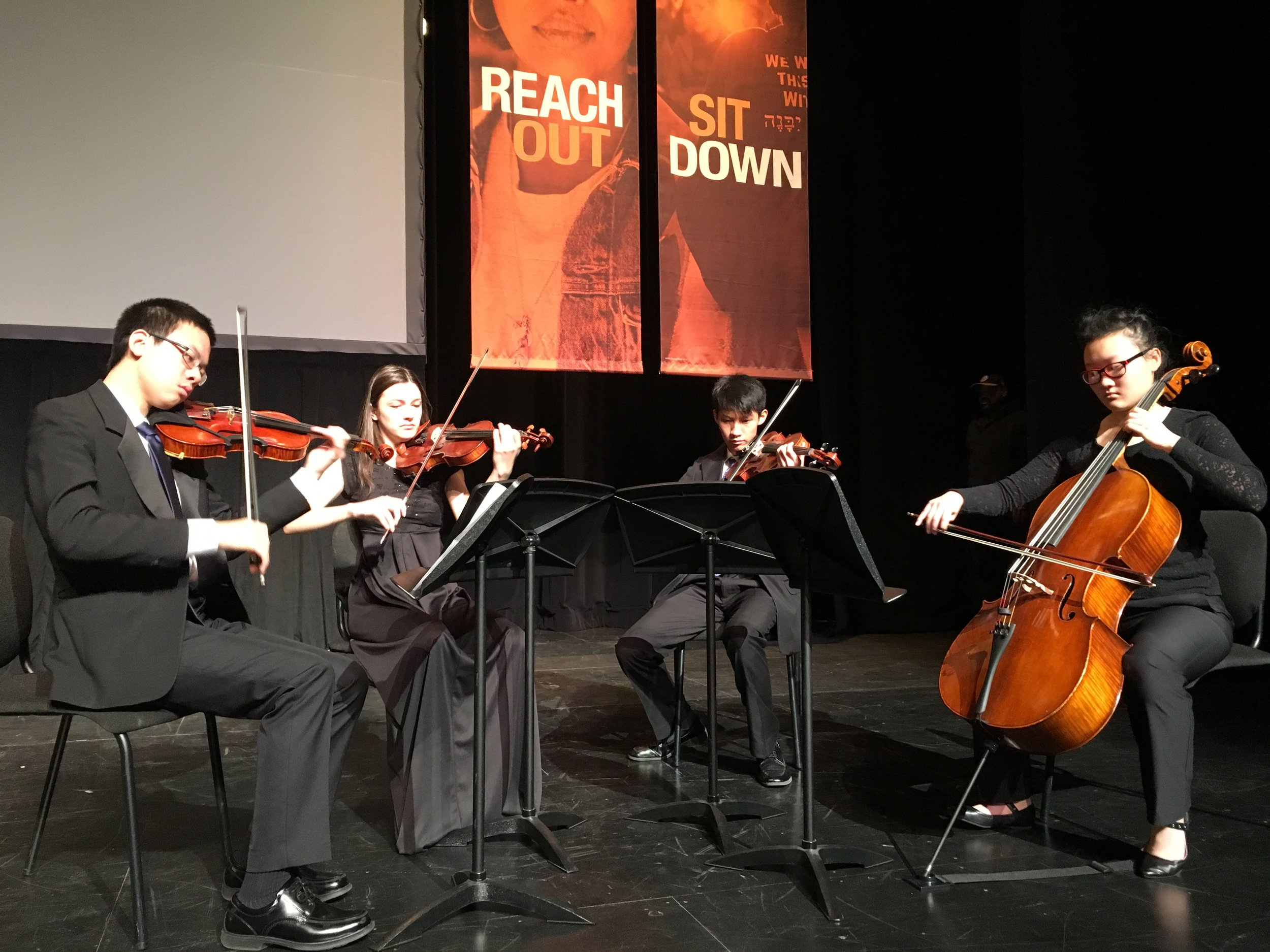 Heinz Endowments Conference - Wednesday, November 14, 2018 - Vivo Quartet - August Wilson African American Cultural CenterThe Heinz Endowments invited the Vivo Quartet to perform during a tribute to the Tree of Life victims at the opening of their conference Courage to Act: Nonprofits and the Call to Moral Leadership.