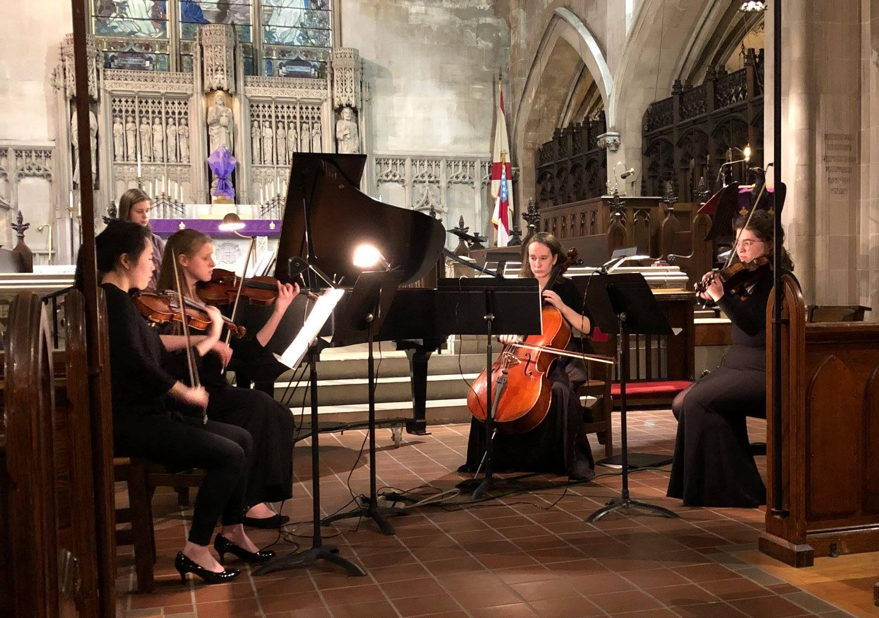 St. Andrews Episcopal Church - March 8, 2019The Finestra Quintet - Cuna, Maeve, Mirra, Nora, and Rowan, performed beautifully at the Vespers Service at St. Andrews in Highland Park.