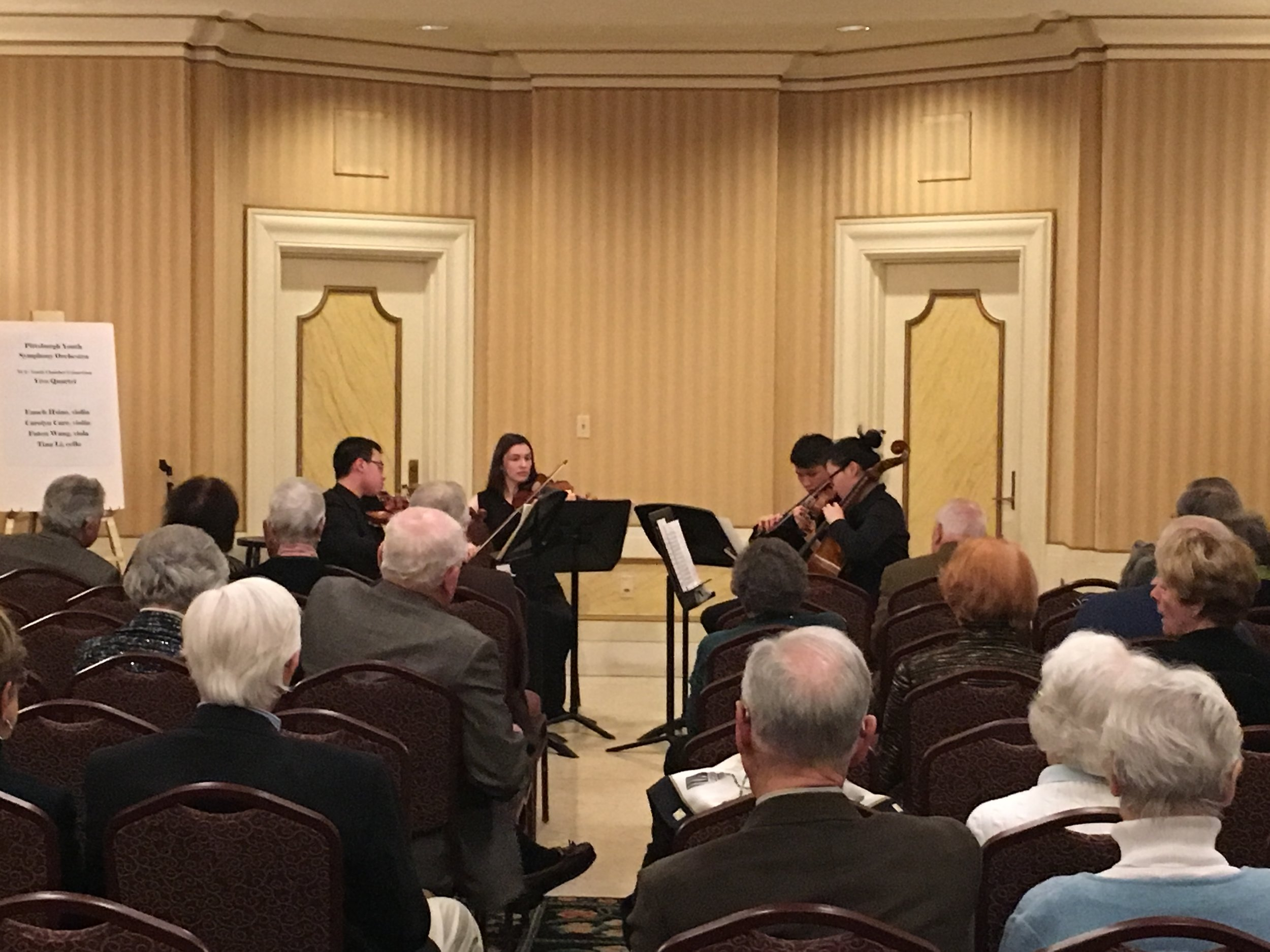 Friends of the PSO - February 21, 2019PYSO's award-winning Vivo Quartet performed for donors of the Pittsburgh Symphony Orchestra at their February gathering.