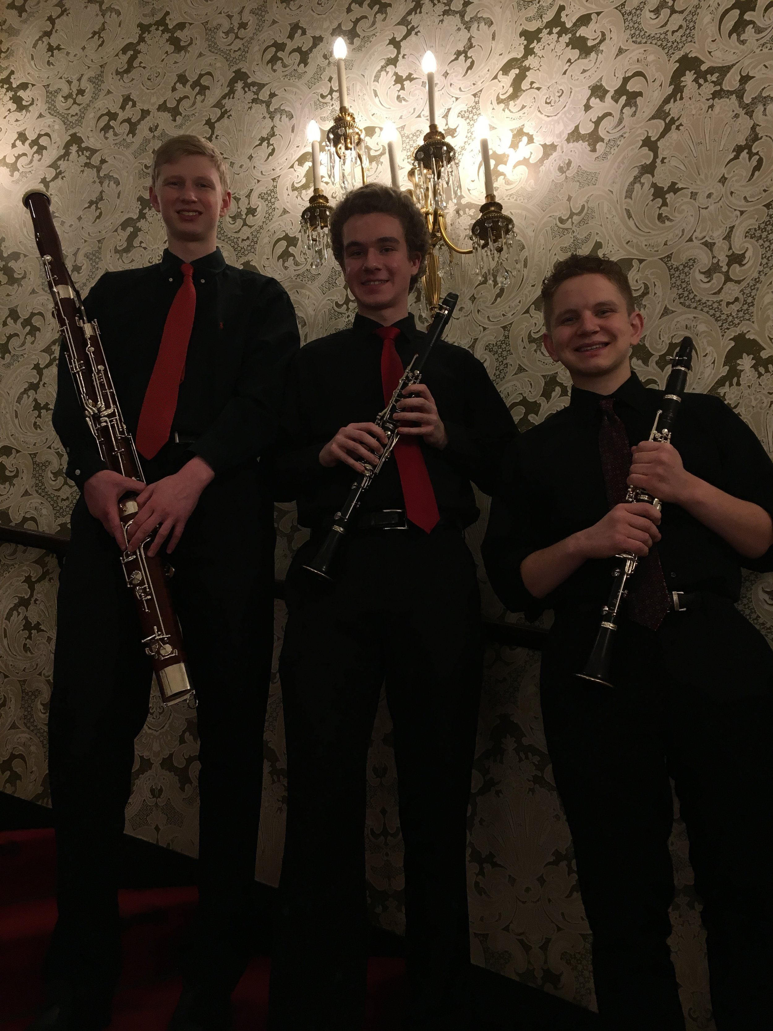 Heinz Hall Lobby Performance - March 22, 2019The Point Trio - Dennis, Matt, and Trey - performed in the stunning foyer of Heinz Hall for the Performing Arts. This trio studied chamber music this year with PSO Bass Clarinet Jack Howell.