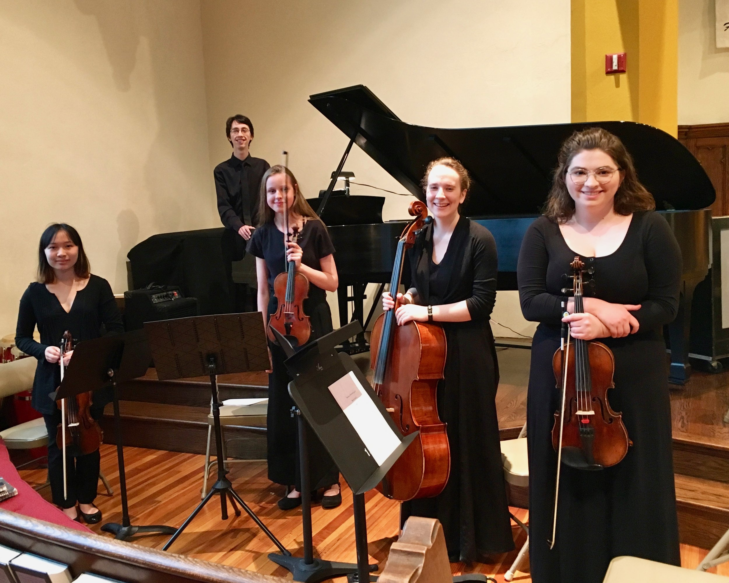 Chamber Orchestra of Pittsburgh - April 12, 2019The Finestra Quintet - Mei, Maeve, Mirra, Nora, and Rowan - performed pre-concert for the Chamber Orchestra of Pittsburgh at First Unitarian Church in Shadyside.