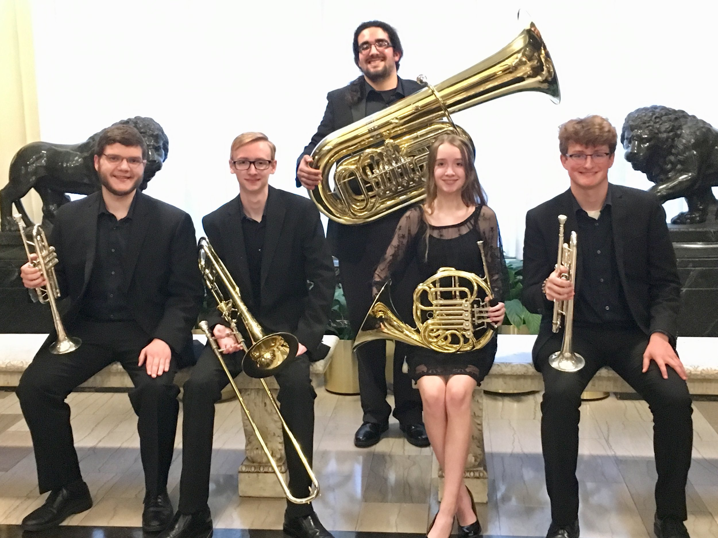 Jay Leno @ Pittsburgh Speaker Series - Wednesday, April 24, 2019The Monaloh Brass - Joel, Lukas, Connor, Lea, and Aiden - performed in the Heinz Hall lobby before a sold-out lecture by former Tonight Show host Jay Leno, in the UPMC Robert Morris Pittsburgh Speaker Series.