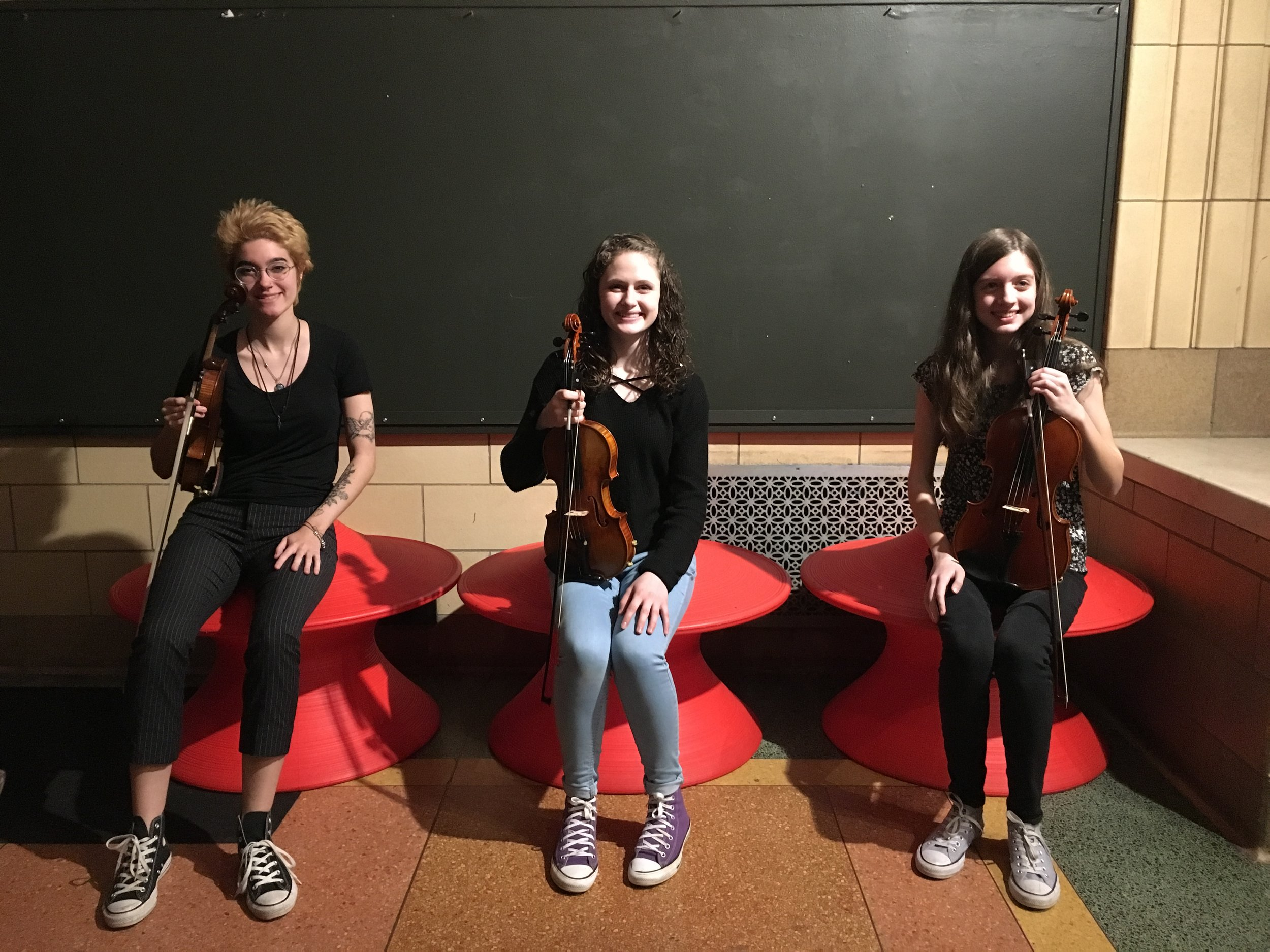 Taylor Trio at SLB Radio - Saturday, April 27, 2019The Taylor Trio performed Sousa, Gershwin, and more on the Saturday Light Brigade radio show at the Pittsburgh Children's Museum. Madi, Lydia, and Anna study chamber music with Kathleen Melucci, Principal Cello of the Pittsburgh Opera Orchestra.