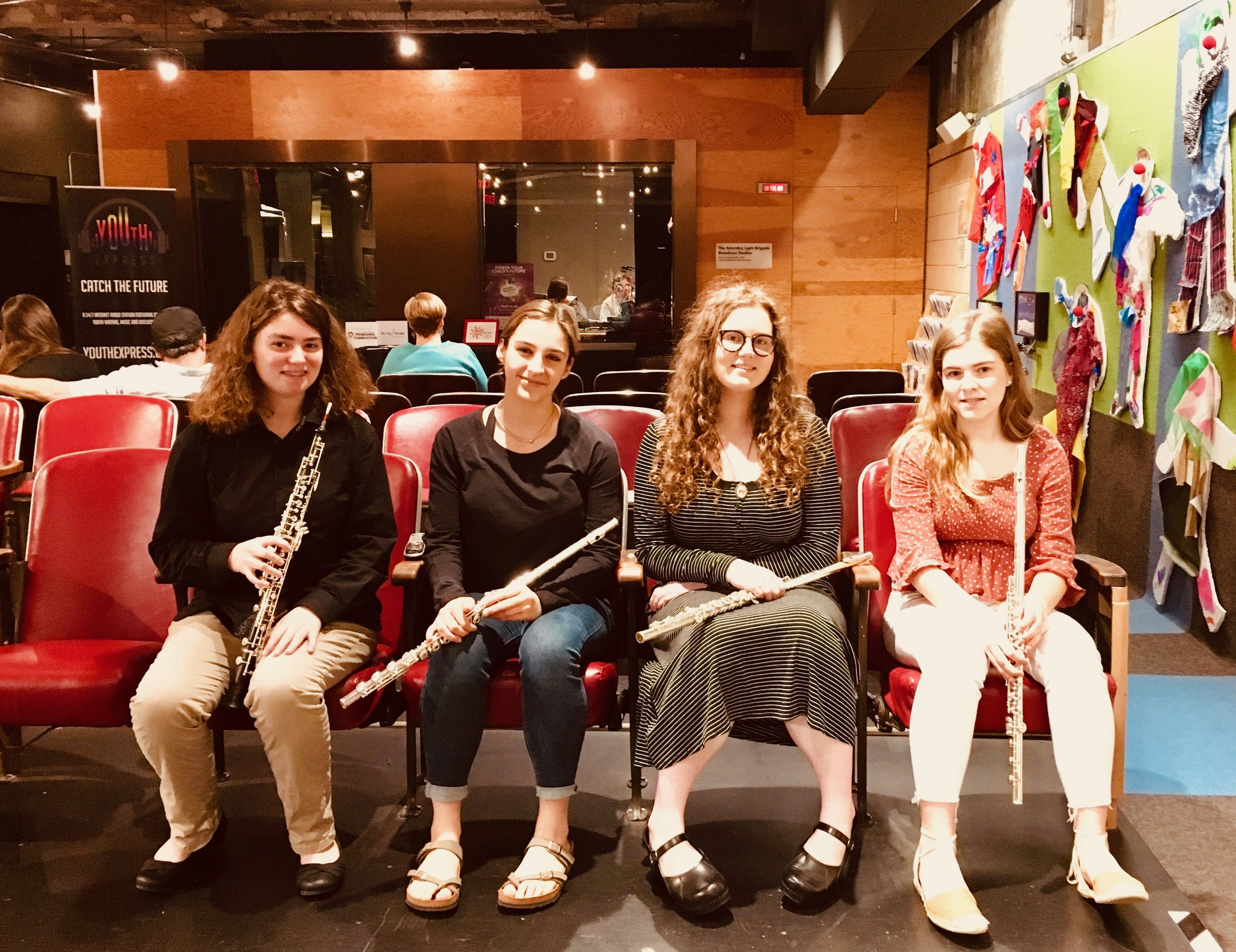 SLB Radio - Saturday, May 11, 2019The Kookaburra Quartet - Becky, Zoe, Emily, and Avery - performed Sousa, Gershwin, and more, on the Saturday Light Brigade radio show at the Children's Museum on the North Side.