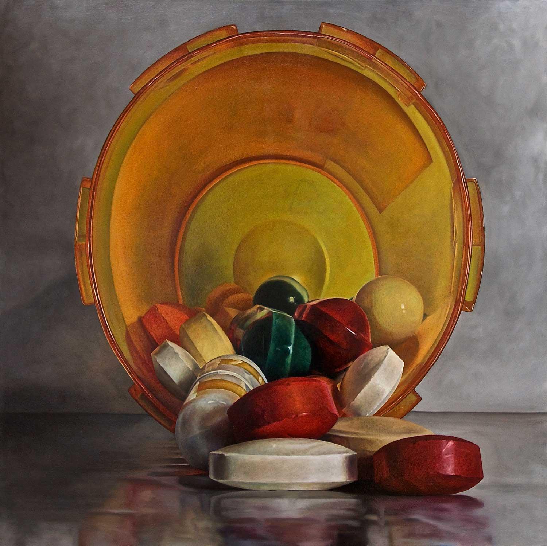 "Pharmacide, 2015 Oil on canvas 50 x 50"""