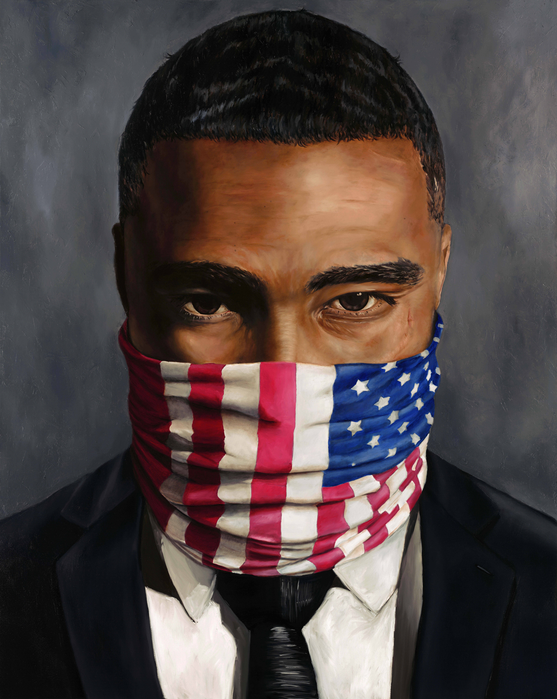 "O'Neil Scott, Citizen, 2016 Oil on canvas 48x60"""