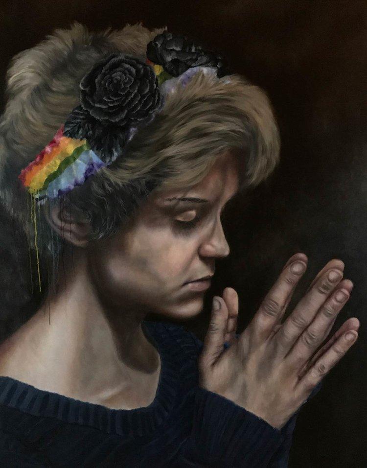 "God Is Gay, 2017 Oil On Canvas 40X60"""