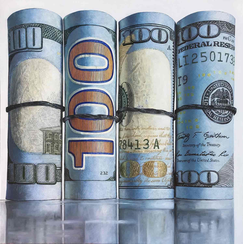 "$4000, 2017 Oil on canvas, 30x30"""