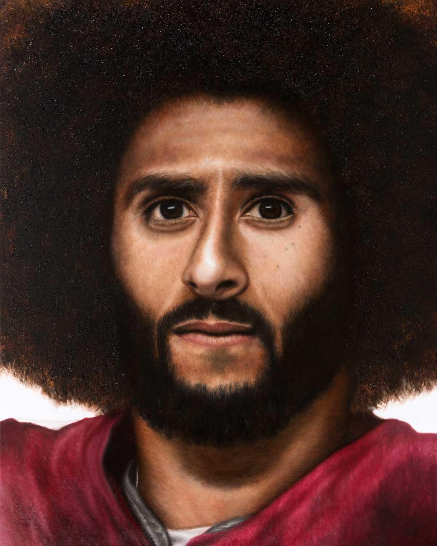 "O'Neil Scott, Kaep, 2018 Oil On Canvas 48X60"""