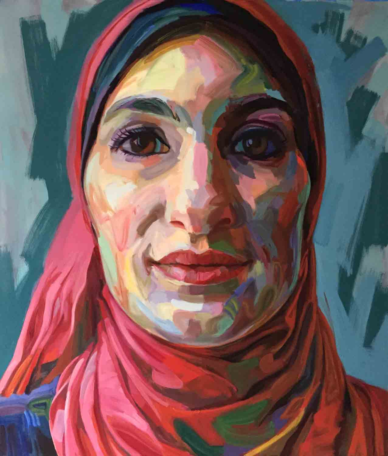 Jo Hay, Linda Sarsour, 2018 Oil on canvas