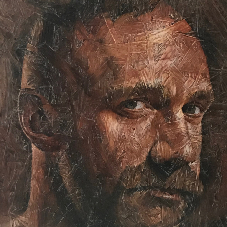 "Introspection 6, 2018 Acrylic on panel 20x20"""