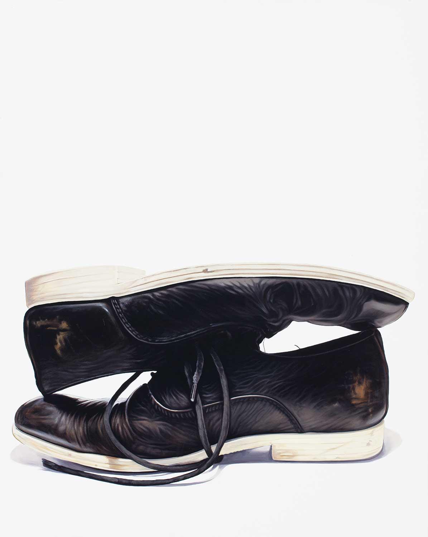 Dustin Yellin, 2015 Oil on Museum Canvas 24bx30x1.5