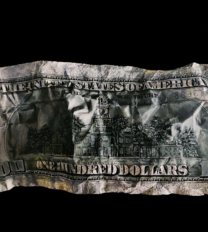 """Dark Money 1, 2018 Oil on canvas 40x36"""""""
