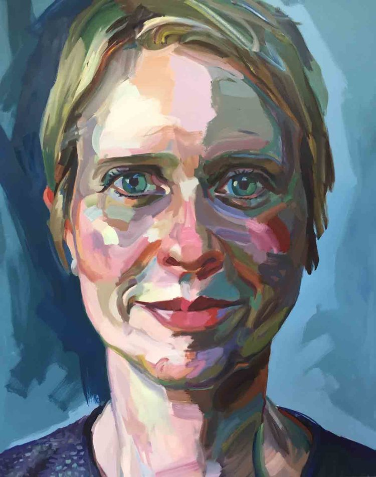 Cynthia Nixon, 2018 Oil on canvas 48x60""