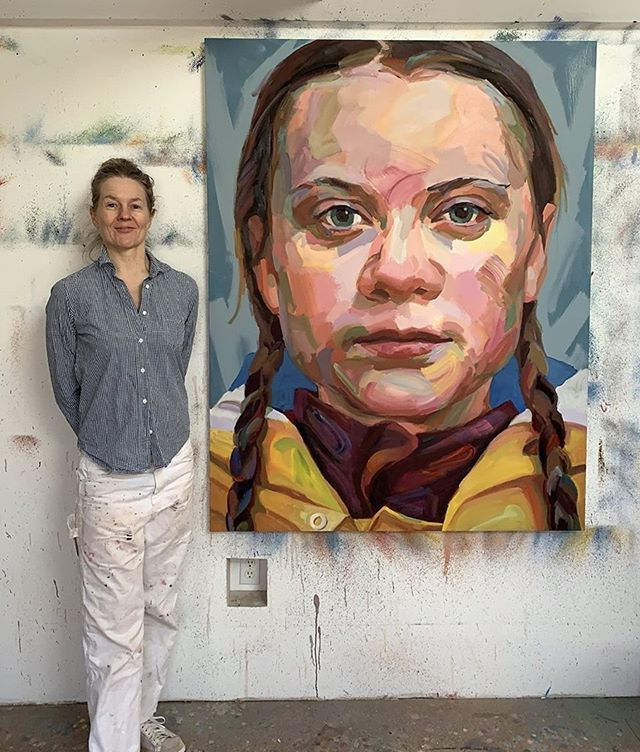 "What were you doing with your life at 15 years old? Jo Hay's latest portrait painting of a true hero throughout the world. Greta Thunberg ! #gretathunberg @gretathunberg  Greta Thunberg (born 3 January 2003) is a school girl in Sweden who, at age 15, began protesting about the need for immediate action to combat climate change outside the Swedish parliament and has since become an outspoken climate activist. She is known for having initiated the school strike for climate movement that formed in November 2018 and surged globally after the United Nations Climate Change Conference in December the same year. Her personal activism began in August 2018, when her recurring and solitary Skolstrejk för klimatet (""School strike for the climate"") protesting outside the Swedish parliament in Stockholm began attracting media coverage.On 15 March 2019, an estimated 1.4 million students in 112 countries around the world joined her call in the striking and protesting. Another event is scheduled for 24 May 2019.  Thunberg has received various prizes and awards for her activism. In March 2019, three members of the Norwegian parliament nominated Thunberg for the Nobel Peace Prize.  If she wins, she will be the youngest recipient in history of the Nobel Peace Prize.  #gretathunberg #climatechangeisreal #girlsRule #nobelPeacePrize #gretathunbergtruthteller #keepstriking #climatechange #globalwarming #savetheearth #sweden #kidsrule #carbonemissionscauseglobalwarming #age15 #savetheplanet #savetheenvironment #johayartist @johayartist @gretathunberg @greenpeace @save_the_evironment @swedense @sweden"