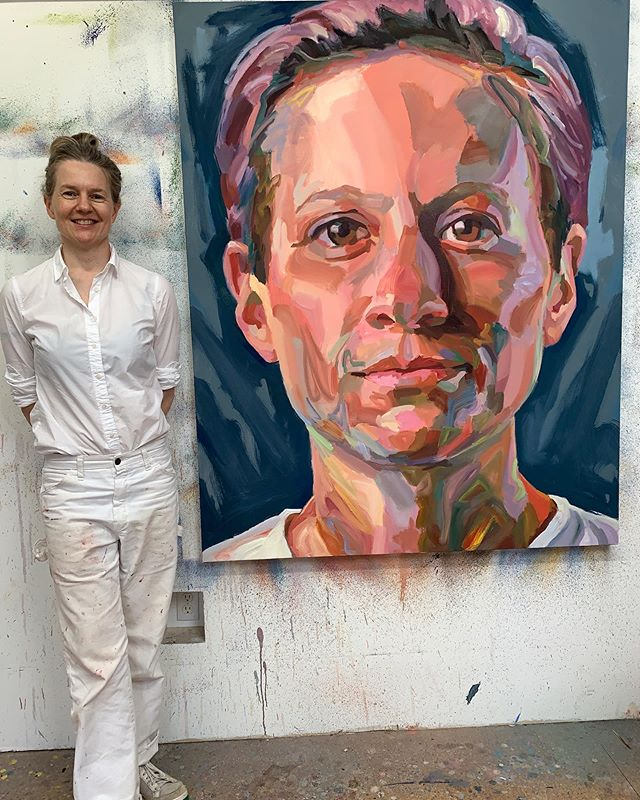 Artist Jo Hay's latest portrait: Megan Rapinoe!!!! 48 x 60 inches oil on canvas.  How fierce is Megan Rapinoe!!!? She's super fierce!! She's an advocate for numerous LGBT organizations, including the Gay, Lesbian & Straight Education Network (GLSEN) and Athlete Ally. In 2013, she was awarded the board of directors Award by the Los Angeles Gay and Lesbian Center. Now she's on a mission for women to get equal pay in professional sports.  #USAWORLDCUPChamps #OLYMPICGOLD #EQUALPAY #LGBTQ #GIRLSRULE #ARTRULES #JOHAY #MEGANRAPINOE @mrapinoe