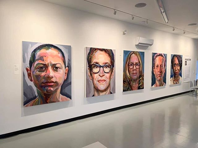 REMINDER!  In celebration of Women's Week, the PERSISTERS artist reception for Jo Hay is TODAY at The Provincetown Commons 46 Bradford Street from 3-5:30pm. Please stop by to see this extraordinary exhibit featuring 11 large scale oil paintings of trailblazing women: March for our Lives activist Emma Gonzalez, Journalist Rachel Maddow, #MeToo survivor Dr. Christine Blasey Ford, World Cup Champion and activist Megan Rapinoe, Congresswoman and Squad leader Ayanna Pressley, Speaker of the House Nancy Pelosi, Senator and Democratic candidate for President Elizabeth Warren, 16 year old climate change activist Greta Thunberg, Congresswoman and Squad leader Alexandria Ocasio-Cortez, Supreme Court Justice Ruth Bader Ginsberg, and Ibtihaj Muhammad, the first female Muslim-American athlete to earn a medal at the Olympics.  #NeverthelessShePersisted #Persisters #WomensWeek #johay #artrules (Photo H/T Daniel Spring)