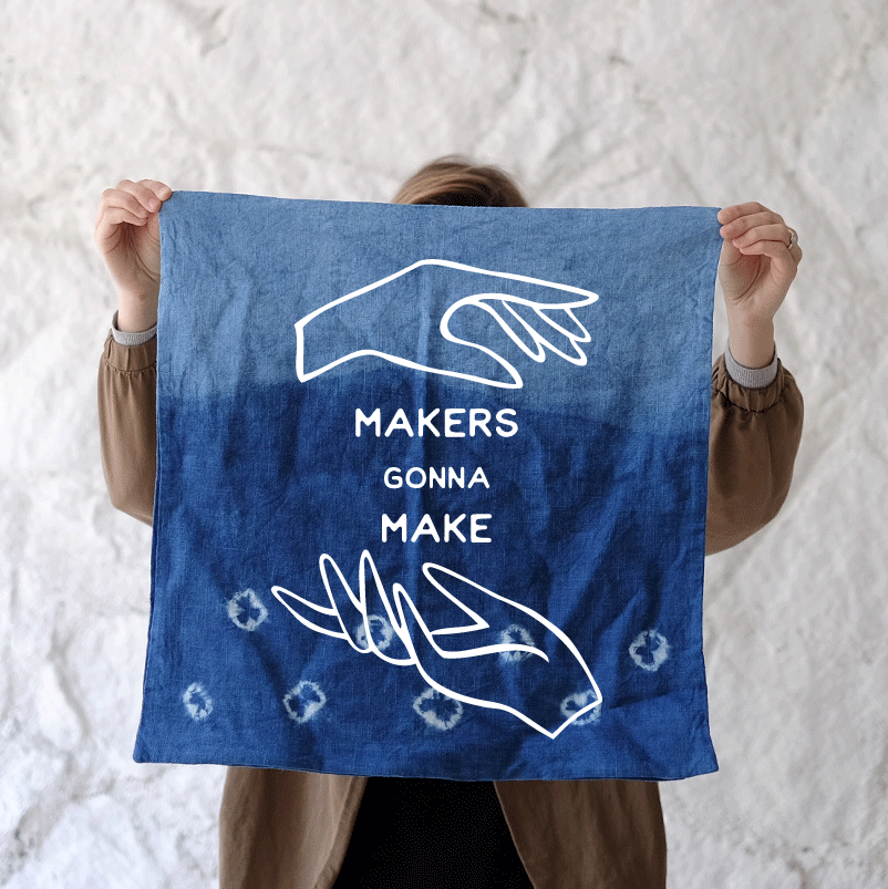 The first Makers Gonna Make event: the art of Shibori Indigo Dye