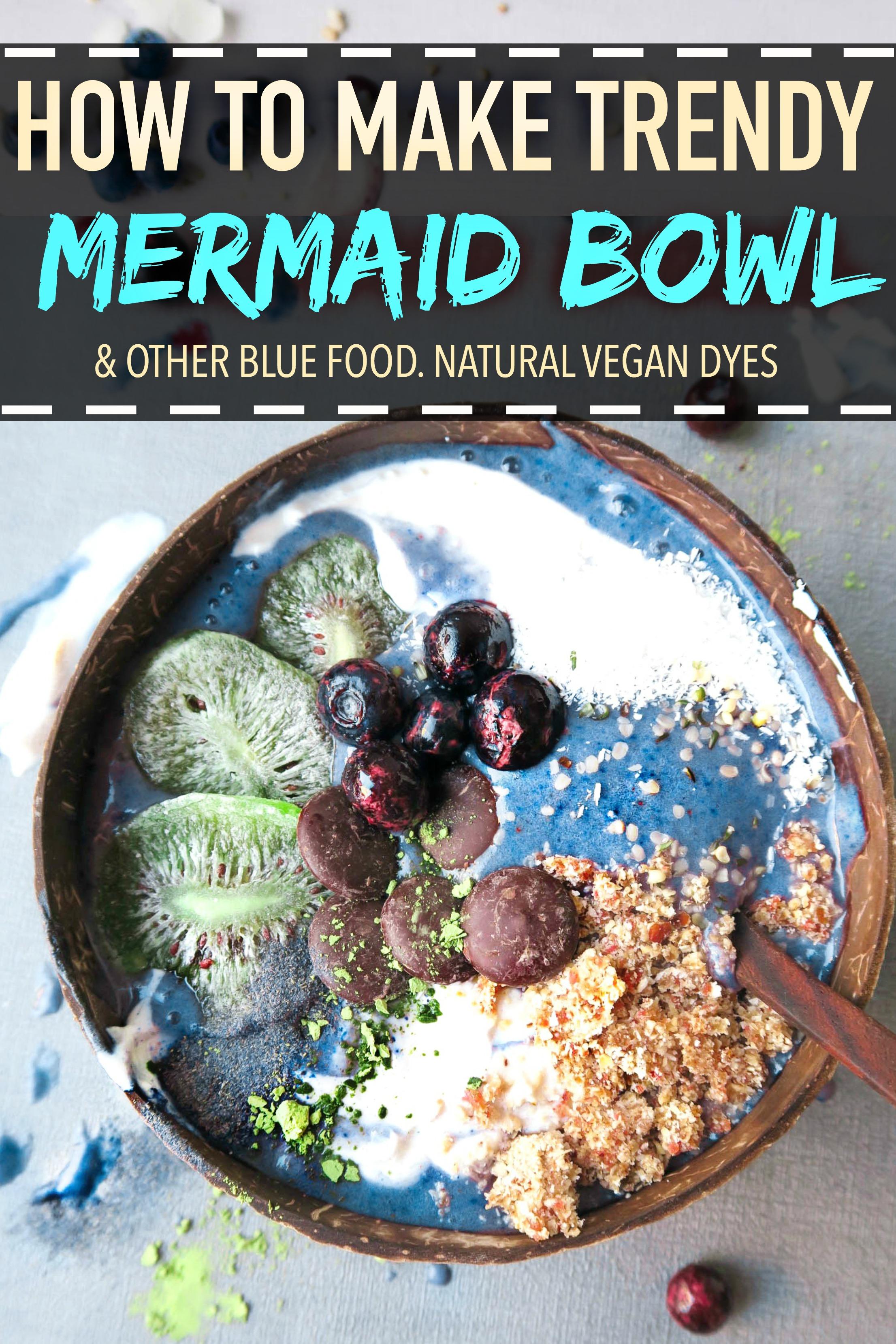 3 ways to make blue food naturally.