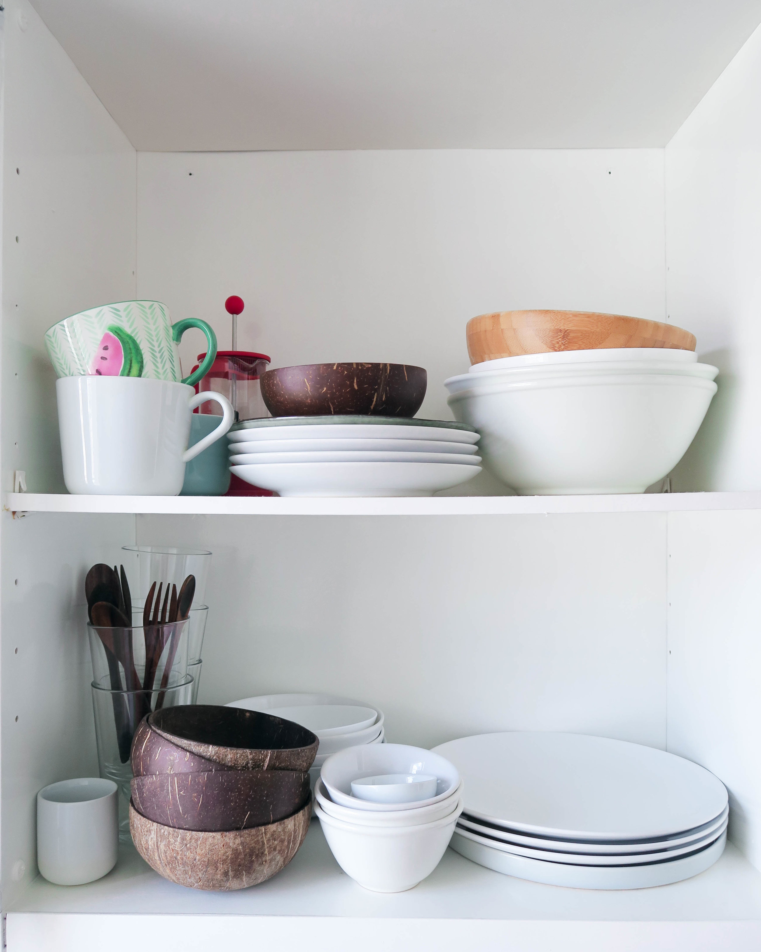 coconut bowl cupboard diy