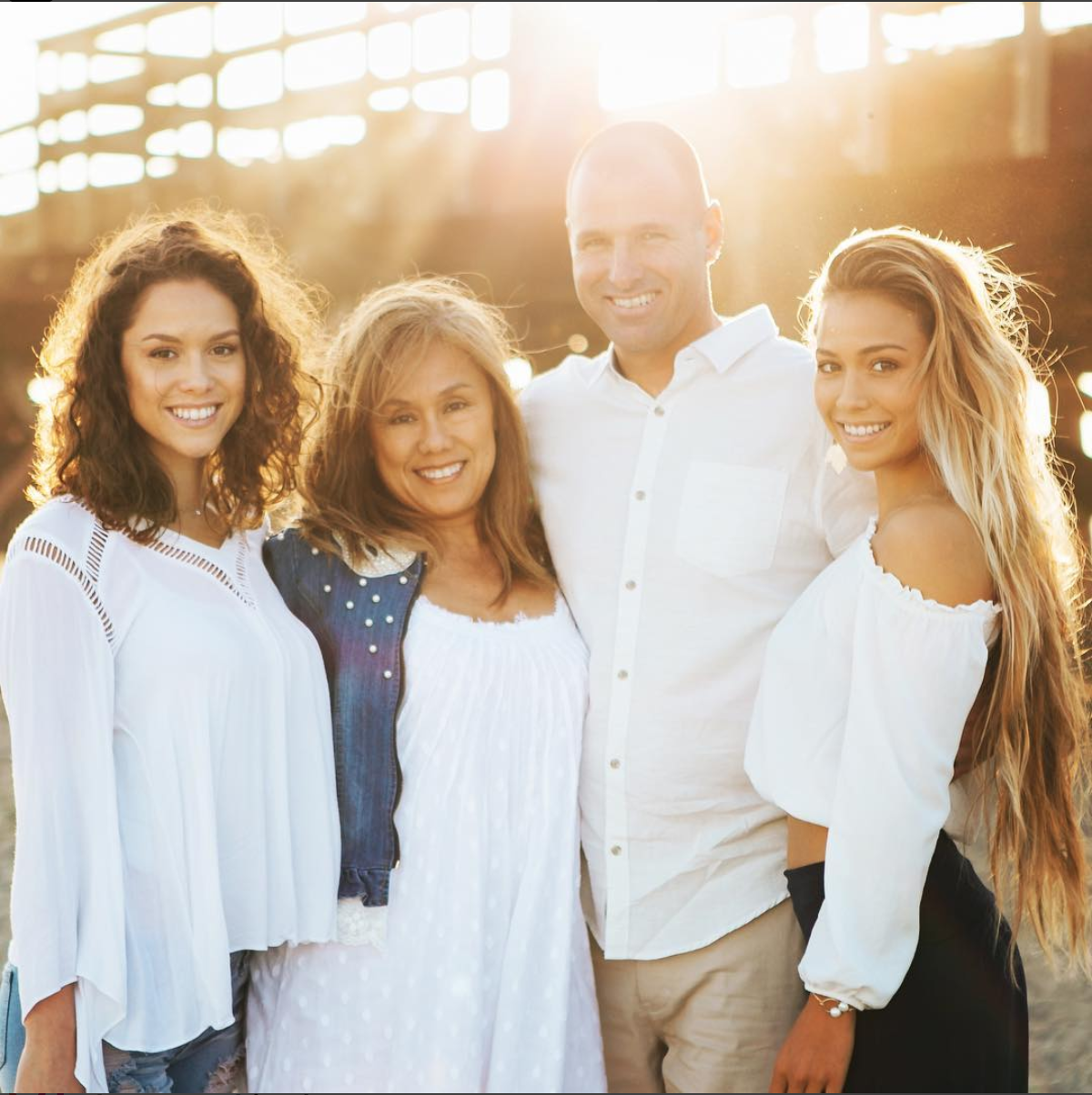 Tia Blanco's beautiful family, her sister Aja, Mom & Dad ! Photo from Tia's instagram.