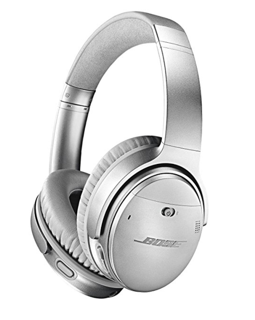 Bose QuietComfort I use to listen to walk, travel, meditate, enjoy music- they are vegan!