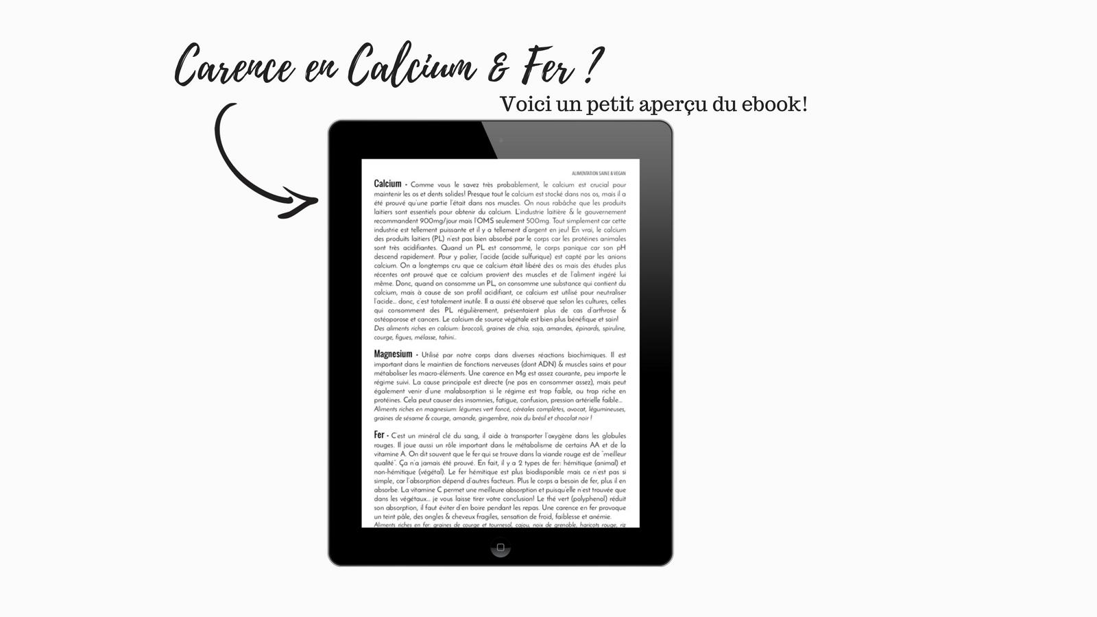 carences calcium vegan - lire plus : www.amelietahiti.com