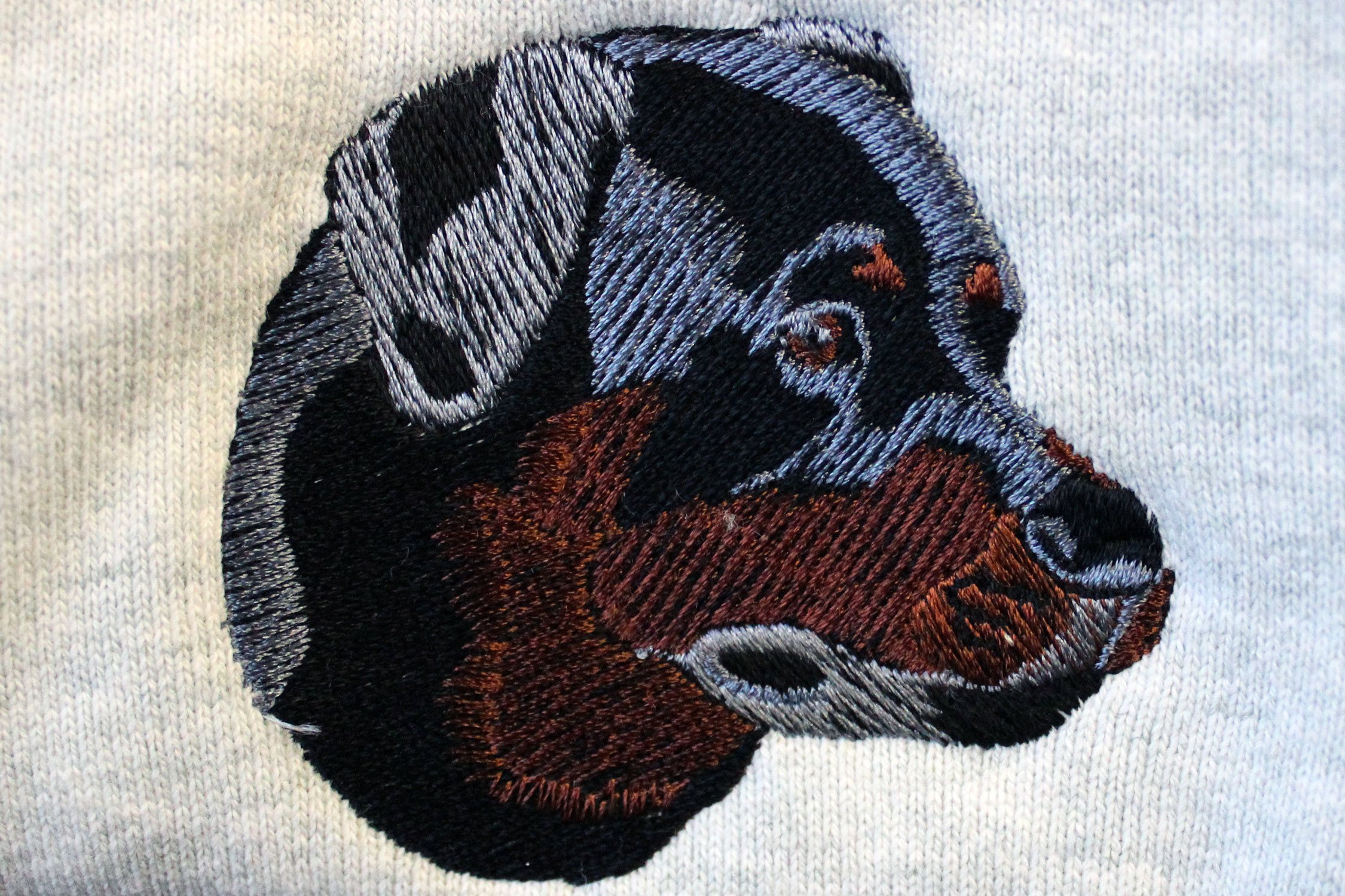 Dog embroidered
