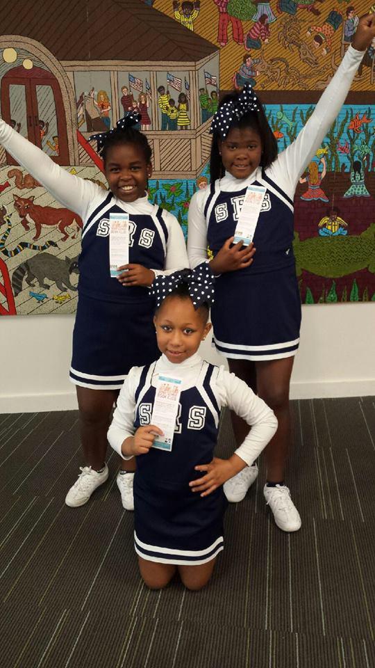St. Rita Catholic Church Cheerleaders as our Comunity Guest Readers !