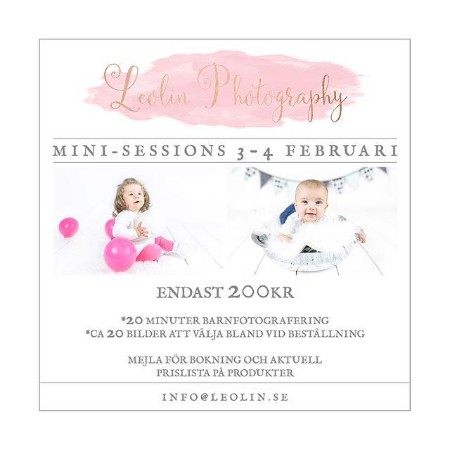 *Mini-sessions* Barnfotografering endast 200kr. (Bilder och produkter köpes separat)  Den 3-4 februari i studion i Borås.  Begränsat antal platser, först till kvarn.  Mejla info@leolin.se för bokning. . . . #barnfotograf#erbjudande#minisessions#fotografborås#fotograf#leolinphotography#leolin.se