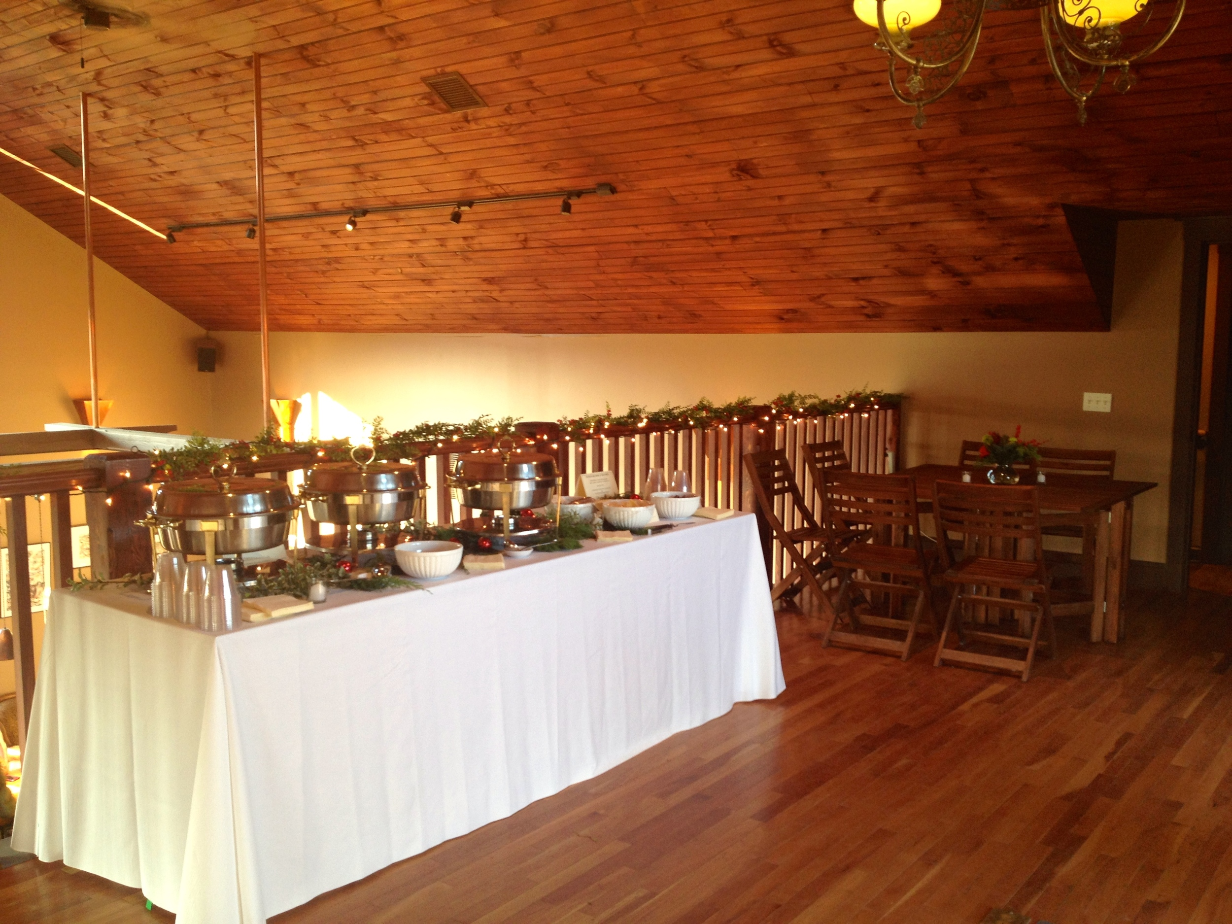 Buffet table in loft