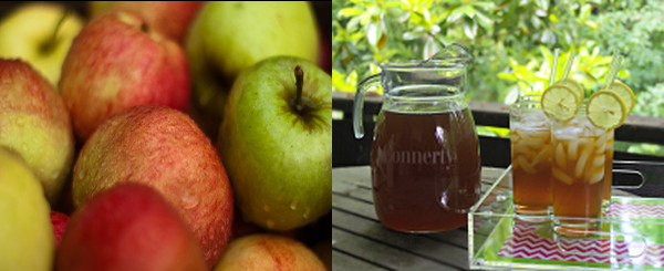 Apples on Left, Pitcher and glasses on right, courtesy of   http://www.personalcreations.com/