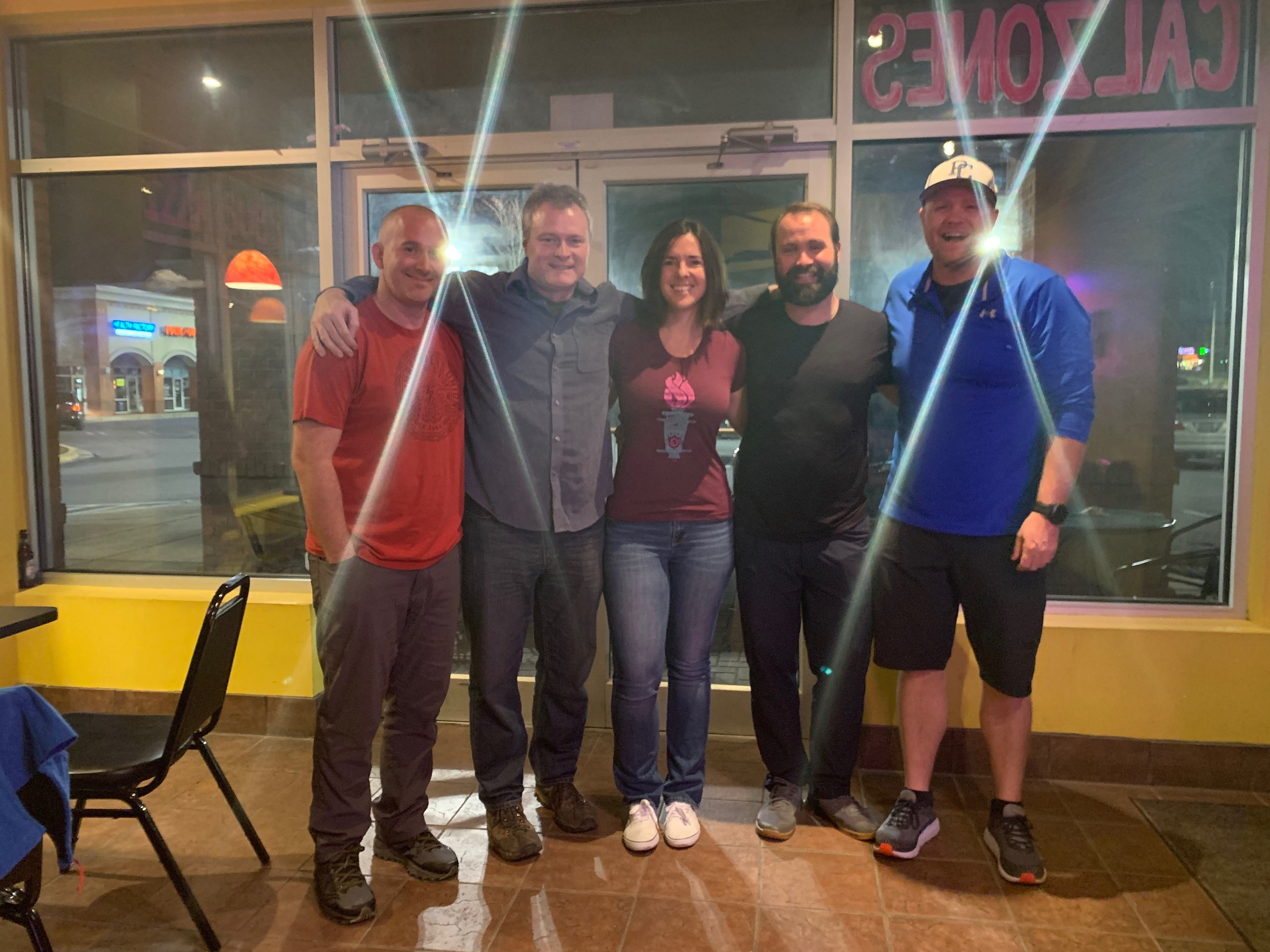 Board of Directors at March 2019 Member meeting (Left to Right: Josh Camp, Chuck Kirk, Lindsey Prell, Zak Prell, and Jamie Youngblood)