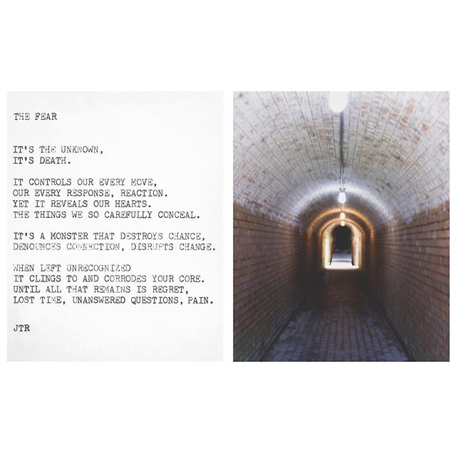 The Fear . . . #jtr #contemporaryart #poem #poetry #typewriter #photography #the #fear #befearless #diptych