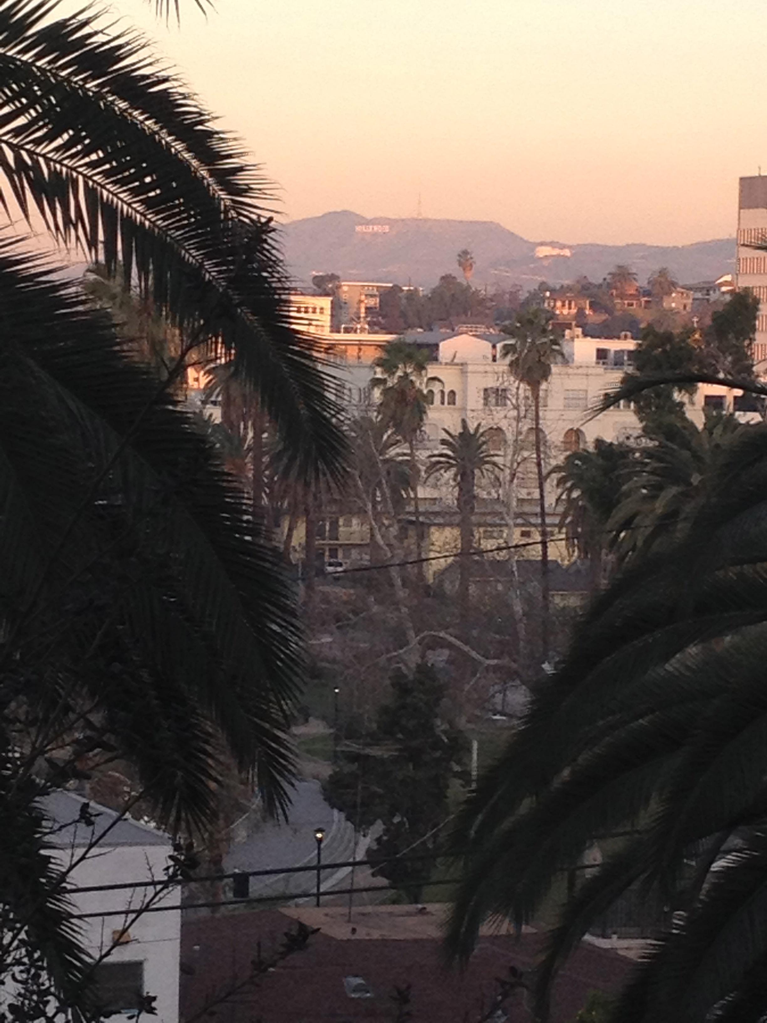 Sunset over echo park, Casa Lavita, Echo Park, CA