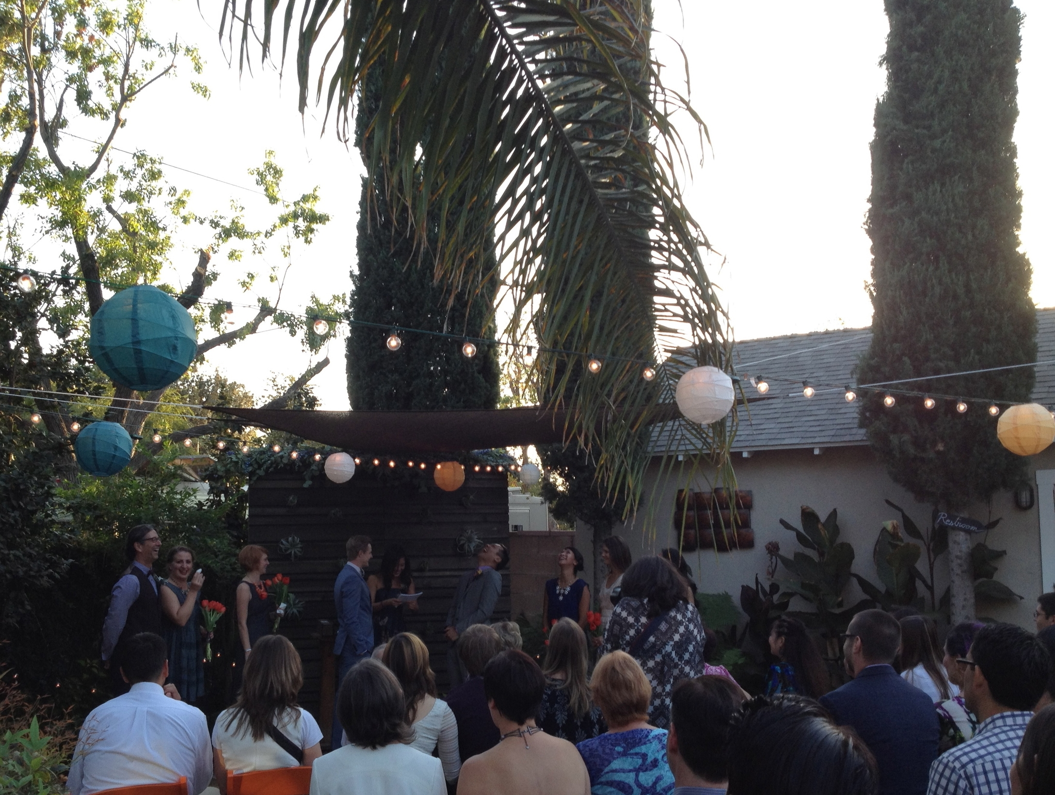 Backyard wedded bliss Van Nuys, CA
