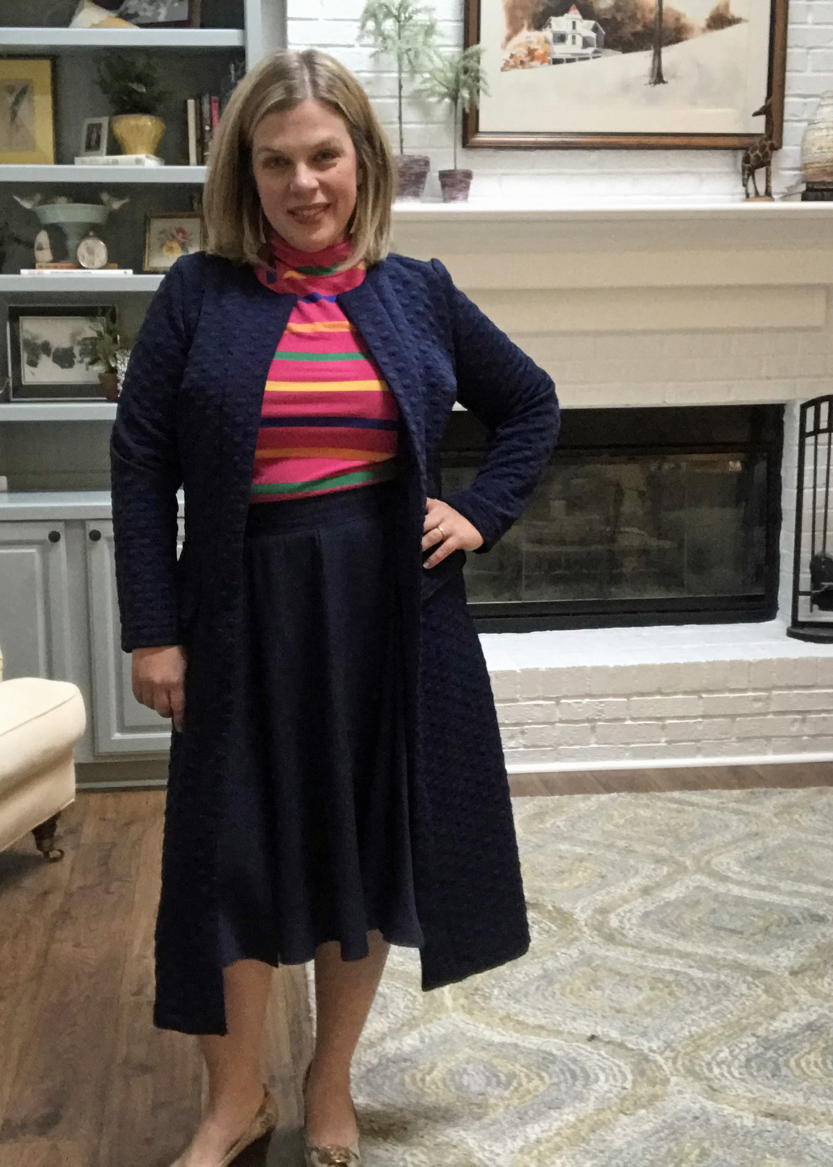 S8750 Turtleneck with SOI Kate Skirt and S8177 Cardigan
