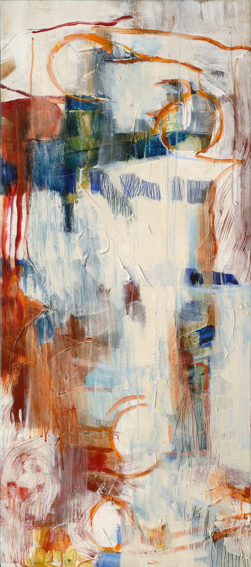 Blanc et lignes orange 1, 2006