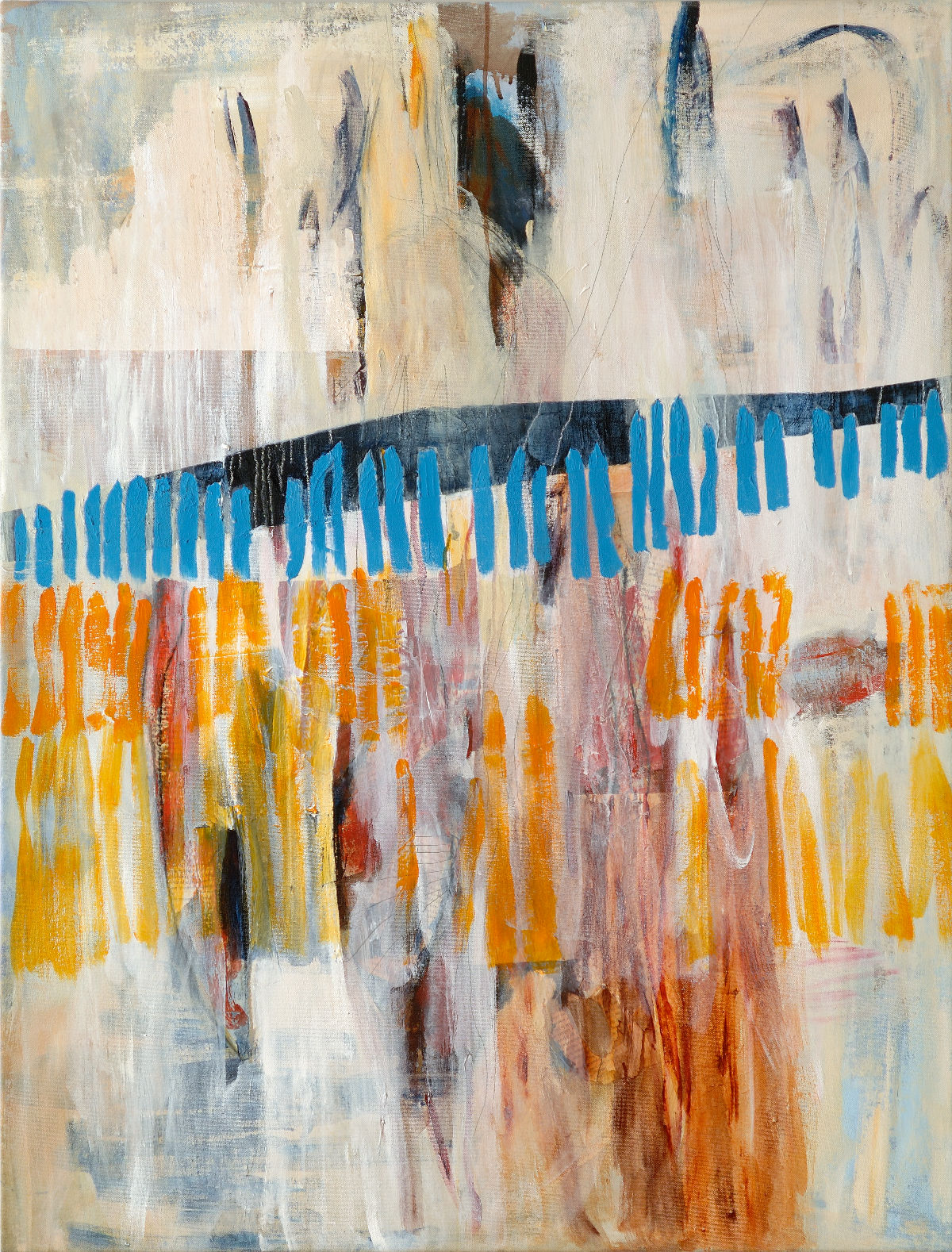 Papier kraft au piano, 2008