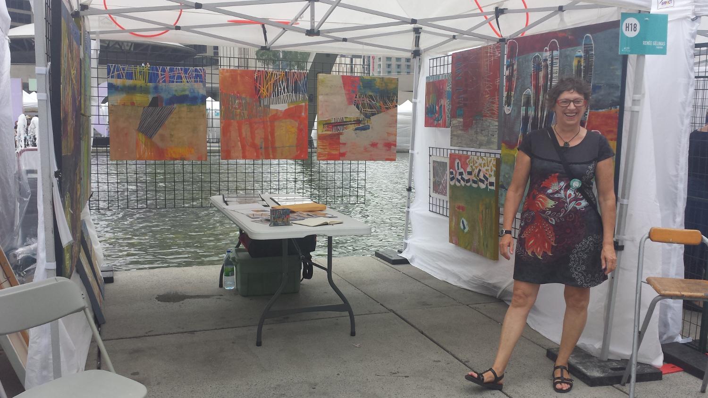À la foire Toronto Outdoor Art Exhibition en 2015.
