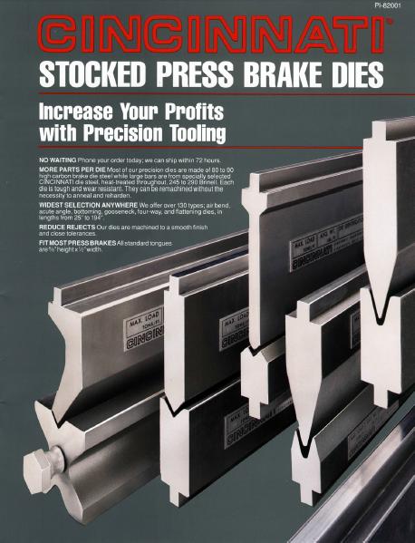 Press Brake Stocked Die Catalog