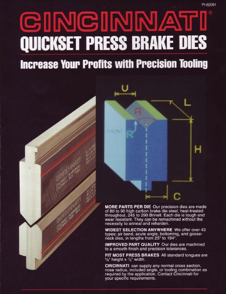 Press Brake Quickset Dies