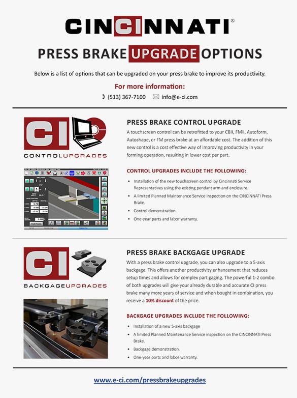 Press Brake Upgrades Flyer