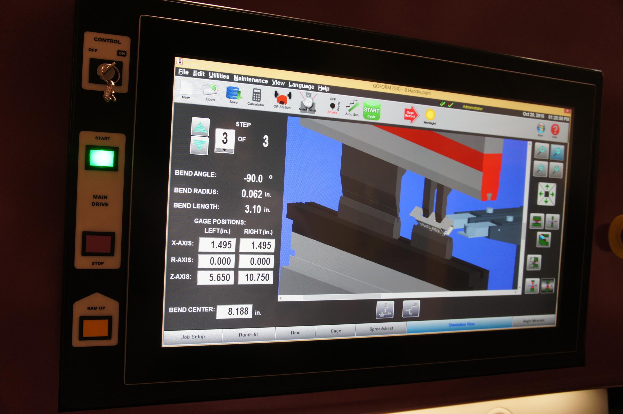 Mounted HMI Touchscreen Control